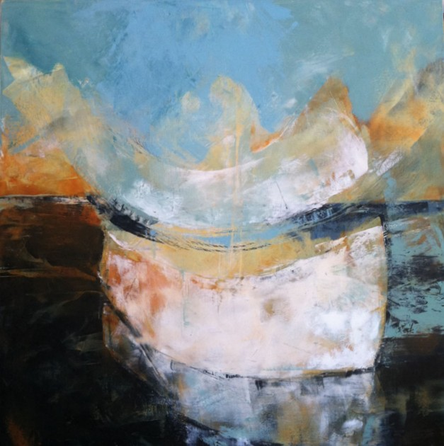 One Who Came on the Waters of Time S  40 x 40 inches