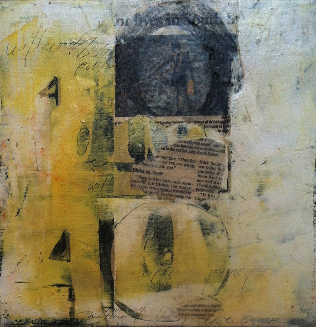 Forty Years 12 x 12 mixed media on panel