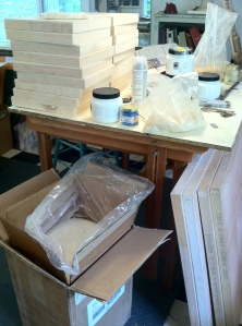 beeswax shipment and panels
