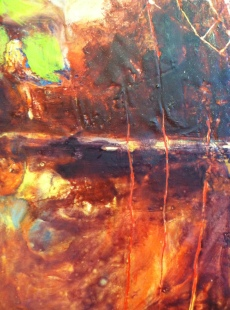 Encaustic painting detail