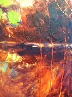 Encaustic painting detail
