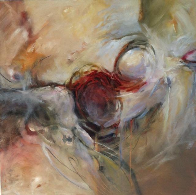 BOMER The Last Battle 36 x 36 oil on canvas )