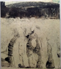 encaustic monoprint