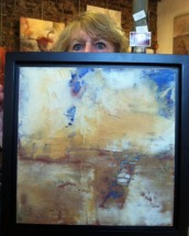 new owner KFrench holds her new painting