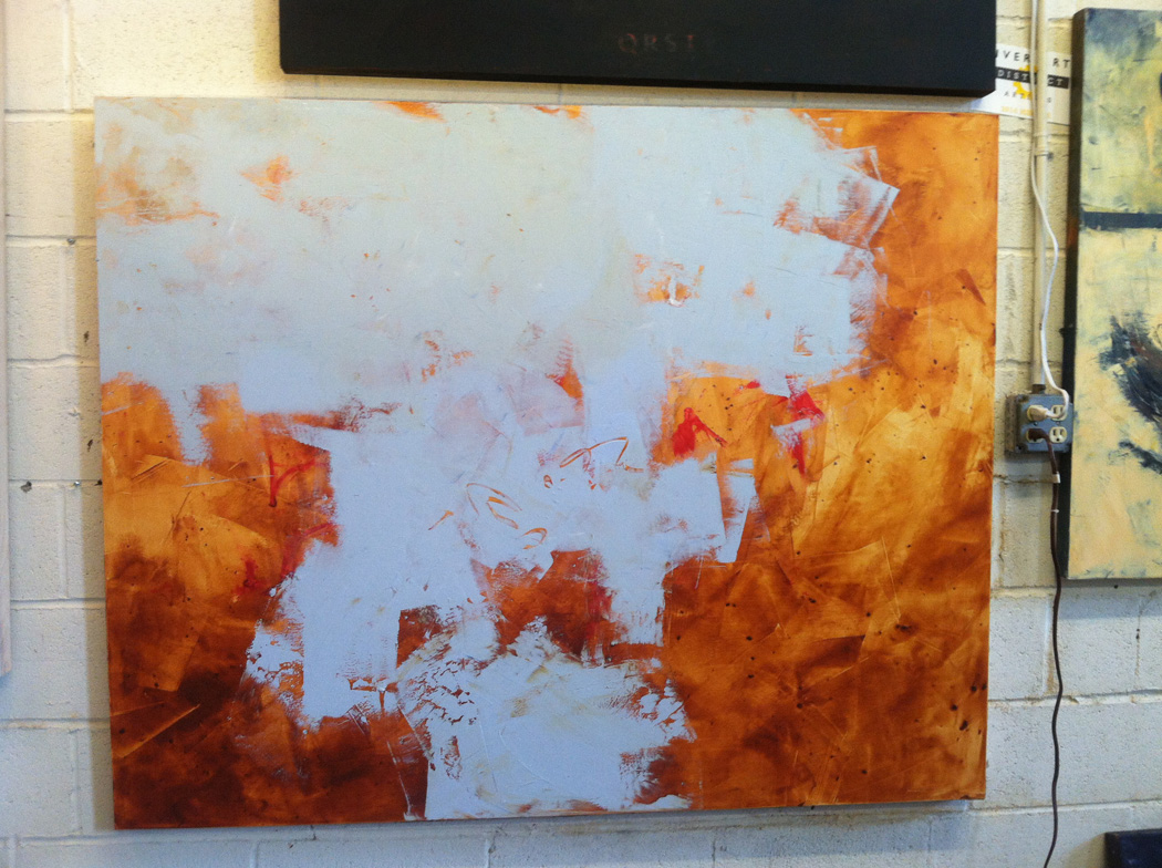 1. beginning a new painting