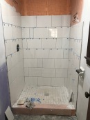 small bath tiling